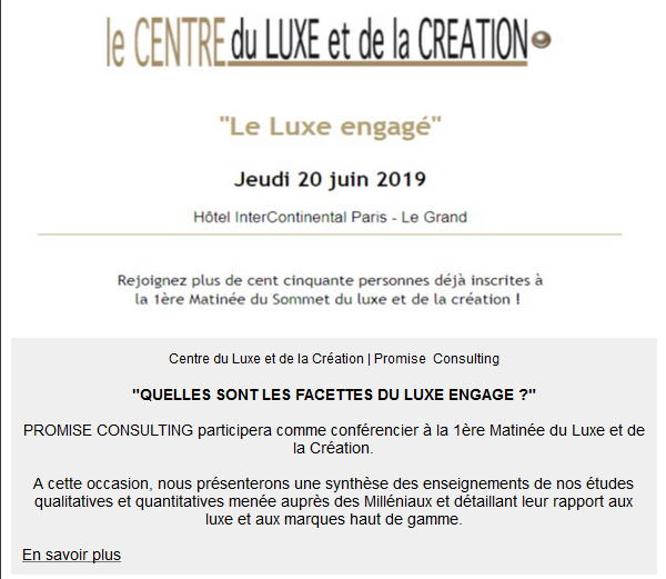 promiseconsulting, panelontheweb, luxurylab, newsletter, juin, 2019, marketing, etudes
